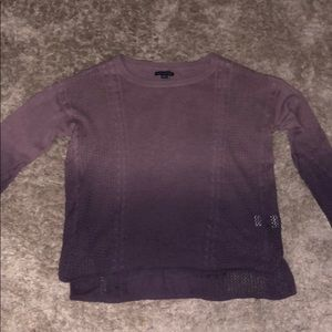 american eagle ombre purple cable knit sweater